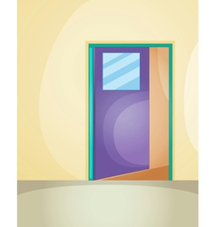 Door entrance vector image