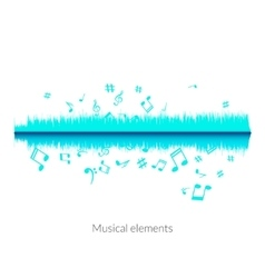 Musical sound wave equalizer stylish concept vector