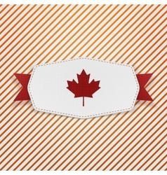 Canada flag symbol realistic tag vector