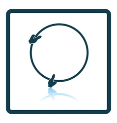 Icon of hand holding photography reflector vector