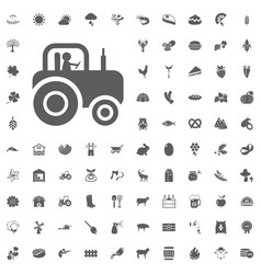 Agriculture and farm icons set vector