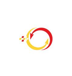 arrow pixel logo vector image vector image