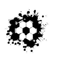 black contour soccer ball icon vector image vector image
