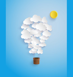 cloud shape balloon vector image vector image