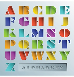 Colorful hole alphabets font style vector