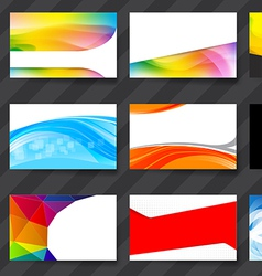 Colorful namecard template 02 vector