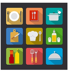 cooking icon flat vector image vector image
