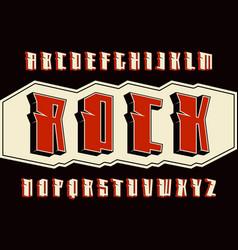 decorative sanserif font in hard rock style vector image vector image
