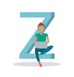 gadget alphabet letter - z vector image