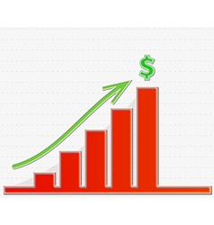 Graph growing to the top for money vector