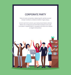 happy people in office on vector image