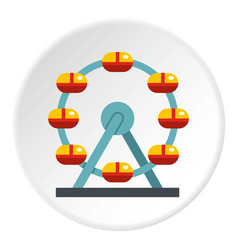 Huge ferris wheel canada icon circle vector