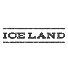 Ice land watermark stamp vector