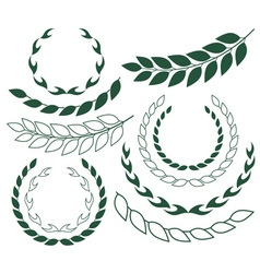 Laurel wreath outline silhouette vector