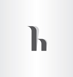 Letter h logo icon symbol black element vector