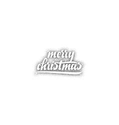 merry christmas xmas badge with handwritten vector image vector image