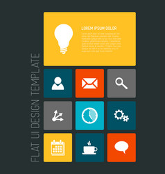 modern mobile phone flat user interface vector image vector image