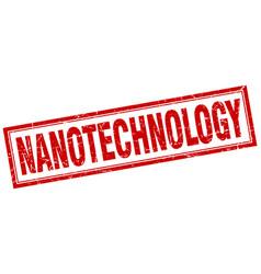 Nanotechnology square stamp vector