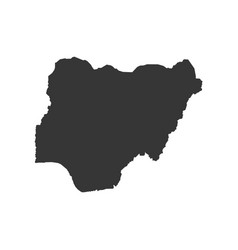 Nigeria map silhouette vector