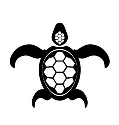 ocean turtle icon sea graphic simple animal logo vector image