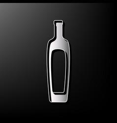 Olive oil bottle sign gray 3d printed vector