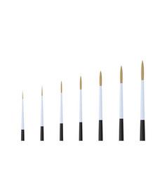Script artist paint brush stationary flat design vector