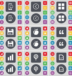Sms arrow left apps floppy apple quotation mark vector