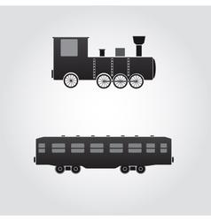Train locomotive and wagon eps10 vector