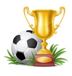 Trophy cup vector image