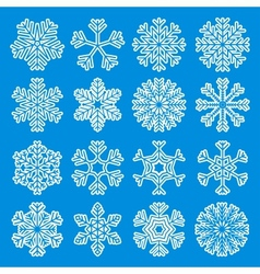 White Snowflakes Icons vector image vector image
