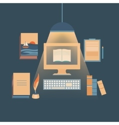 Writing books and copywriting vector