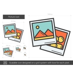 Picture line icon vector