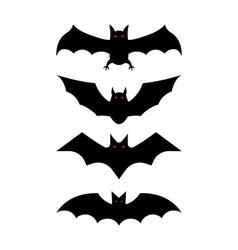 Bat silhouettes - halloween vector