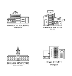Set of real estate logo vector