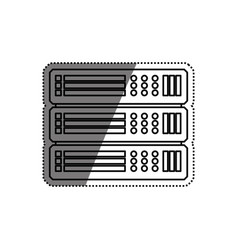 Server hosting technology vector