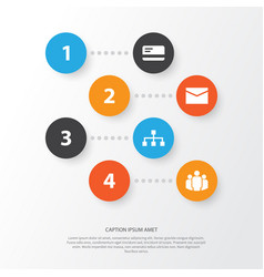 Trade icons set collection of payment group vector