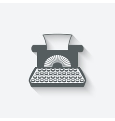 Retro typewriter design element vector