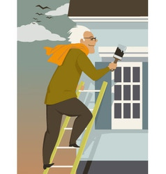 Fall house maintenance vector