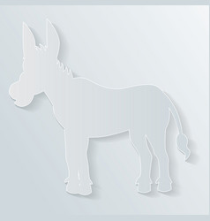 Paper donkey vector