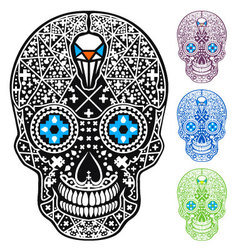 Mexican skull cross-skull vector