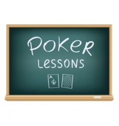 poker lessons vector image