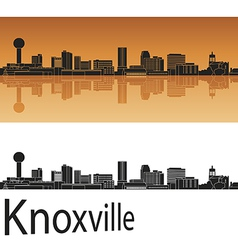 Knoxville skyline in orange vector image