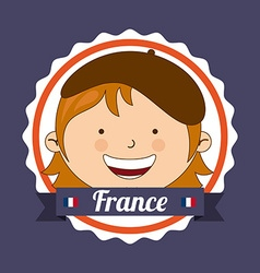 france kid vector image