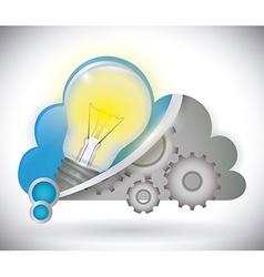 Bulb design vector