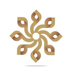 Logo letter infinity spin lettering design vector