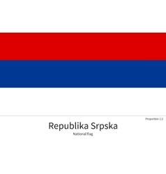 National flag of republika srpska with correct vector