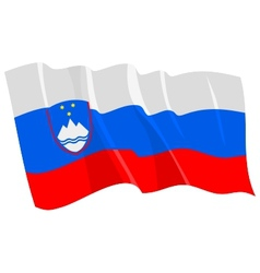 Political waving flag of slovenia vector