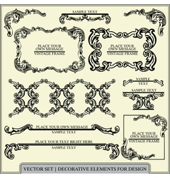 Calligraphic design elements and page vector image
