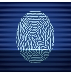Fingerprint identification scanning system finger vector