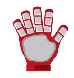 red goalkeeper glove vector image